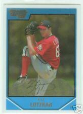 Kyle Lotzkar Texas Rangers 2007 1st Bowman chrome Card