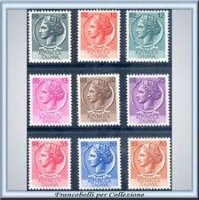 1953 Repubblica Siracusana RUOTA n. 710/718 CENTRATI **