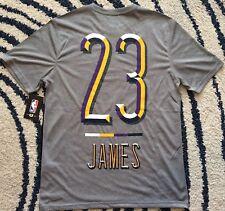 NEW NBA LeBron James Los Angeles Lakers T-Shirt Grey Size Small Medium Large 564f21175
