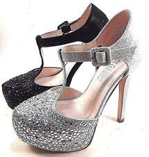 36a8a95e359 De Blossom Kinko-201 Platform High Heel T-Strap Dressy Shoes Choose Sz