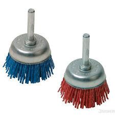50/75mm Nylon Filament Cup Fine Non Sparking Wire End Drill Brush Wheel