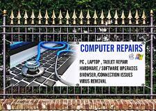 Outdoor PVC computer riparazioni BANNER SIGN pubblicità gratuita opere d'arte pronto per visualizzare 3