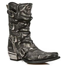 Newrock vaquero occidental New Rock M.7993-S3 botas de aspecto envejecido de cuero GOTH frotar apagado