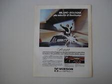 advertising Pubblicità 1968 AUTORADIO VOXSON SONAR