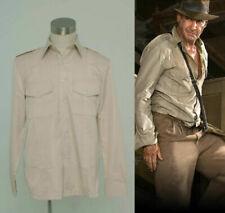 New Indiana Jones Casual Classic Shirt Costume Custom Made&