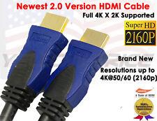 6FT 3FT HDMI 2.0 Cable Ultra High Definition 1080@60Hz Ethernet For UHD TV 2k 4k