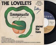 THE LOVELETS disco 45 giri MADE in ITALY Emmanuelle OST 1974