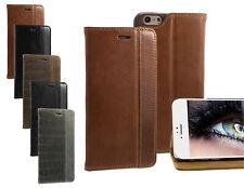 BLUMAX Echt Leder Magnet Tasche Flip Case Cover Hülle Etui für Smartphones