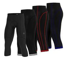Men Cycling Padded Running Tights Shorts 3/4 Length Pants Compression Shorts