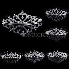 Mariage mariée diadème strass cristal Couronne Pageant Prom cheveux bandeau