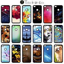 Custodia cover TPU GEL per Huawei P8 Lite 2017 -SB nera  Design _467_484