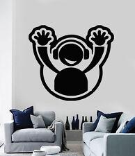 Wall Vinyl Sticker DJ Headphone Plate Hands Up Club Party Decor (n496)