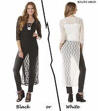 ALMOST FAMOUS NEW Floral Lace Boho Maxi Layer Shirt Dress L XL QCO