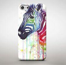 ZEBRA ANIMAL SALVAJE ZOO colorido pintura Derritiéndose Multicolor