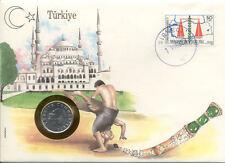 superbe enveloppe TURQUIE avec pièce monnaie numisbrief
