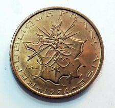 Piece  Coin  France Mathieu 10 Francs 1974 to 1987  TTB  Nickel-brass KM:940