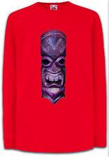 TIKI HEAD III Kids Long Sleeve T-Shirt Tattoo Rockabilly Custom Psychobilly