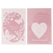 Cookie rosa claro fachada Celofán Bolsas-Corazón Mariposa Encaje confitería