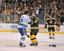 Greg Campbell Boston Bruins fights Ian Lapierre Canucks 8x10 11x14 16x20 1925