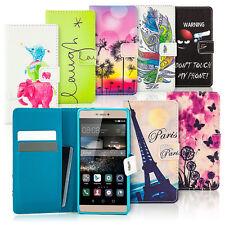 Book-Style Flip Case mit Motiv Design Schutz Hülle Handy Tasche Slim Cover Etui