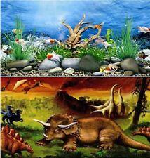 "24"" Double Sided Aquarium Background Backdrop Fish Tank Reptile Vivarium Marine"