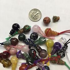 2 sets of Natural Gemstone Guru Beads 10mm,  Mala Beads