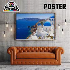 POSTER PAESAGGIO GRECIA MARE SANTORINI CARTA FOTOGRAFICA 35x50 50x70 70x100
