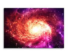 Wandbild Illustration Magenta Galaxie auf Leinwand