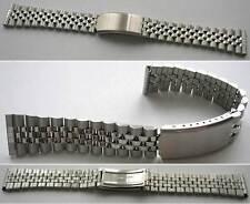 - KLASSISCHES RLX-Jubi-Style Silberfarbig EDELSTAHLARMBAND Wahl: 18 oder 20 mm