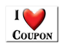 SOUVENIR USA - PENNSYLVANIA FRIDGE MAGNET I LOVE COUPON (CAMBRIA COUNTY)