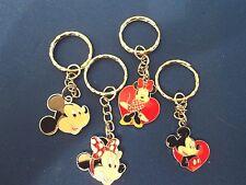 Mickey /Minnie mouse enamel keyrings