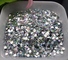 2000 3MM Stick On Diamonte Clear Gems Crystal Rhinestone Diamantes*&*^