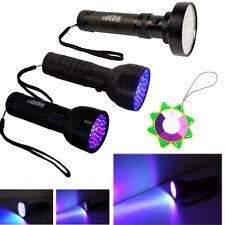 HQRP 100/76/51-LED 390 nM Ultra Violet Blacklight UV Flashlight Torch Light Kit