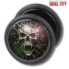 Ghost Skull fakeplug-Fake piercing Picture Plug pendientes joyas-tatuaje