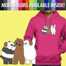 We Bare Bears Panda Grizz Ice Bear Cute Group Pullover Sweatshirt Hoodie Sweater