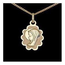 Heilige Maria Madonna Anhänger Gold 333 mit verschied- Goldketten Taufe Geburt