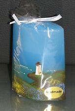 Maritim*Design-Kerze mit Leuchtturm,Wiese,Meer -verschiedene Formen/Größen