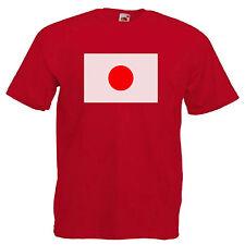 Drapeau Japon Adultes Homme T shirt 12 Couleurs Taille S - 3XL