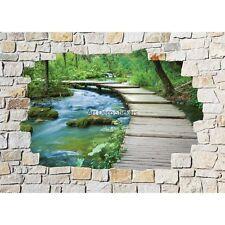 Stickers mural mur de pierre Ponton 8508