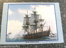 #TT.  FOUR SAILING SHIP POSTERS - BARK ENDEAVOUR