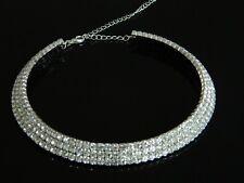 Sparkle Shiny Rhinestones Choker Wedding Bridal Prom Party Evening Necklace