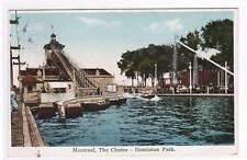 Chutes Dominion Amusement Park Montreal Canada postcard
