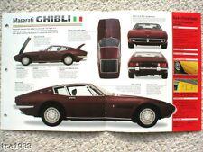 1967 / 1968 / 1969 MASERATI GHIBLI IMP Brochure