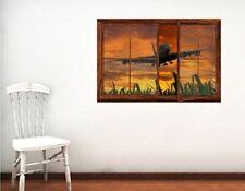 Pvc Vinyl Aeroplane Design Wall Sticker Decal Art Bedroom Decor 36 X 24 Inch