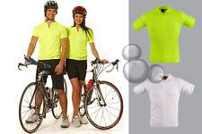 Cycling Jersey XXS XS S M L XL 2XL 3XL Short Sleeves Fluro Yellow White Bike New