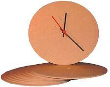 Cara del reloj Mdf Redondo O Cuadrado Paquete a granel 10 piezas escuelas talleres de Artes Crafts