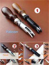 3kind Leathercraft Wood Handle Adjustable VU Gouge Gouging Fold Stitch Line Tool