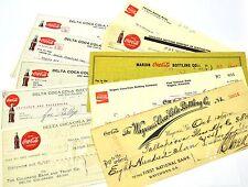 Coca-Cola Coke USA Gehaltsschecks Schecks Checks diverse von 1912 bis 1980