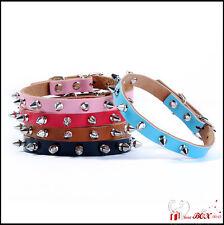Nietenhalsband Hunde Leder XS S M L NEU Halsband Halsbänder Nieten