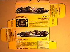 REFABRICATION BOITE MATRA F1 V12  DINKY TOYS 1969
